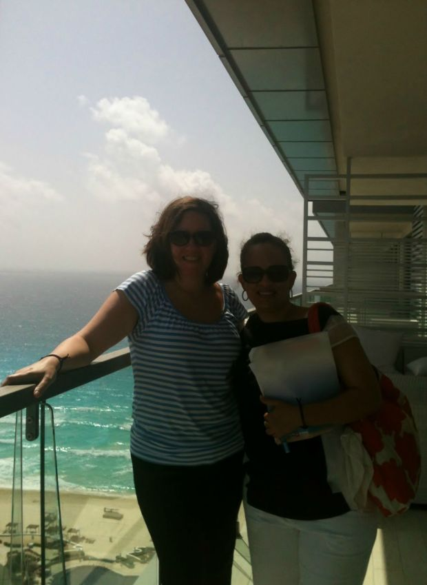 On the balcony of an ocean view room